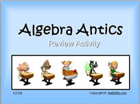 Interactive Jeopardy-style PowerPoint Activity for Algebra 1