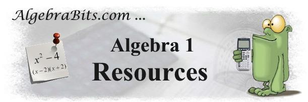 AlgebraBits Common Core Algebra1 Resources – Common Core Algebra 1 Worksheets