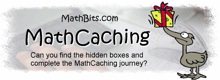 Math Cache Directions - MathBits.com